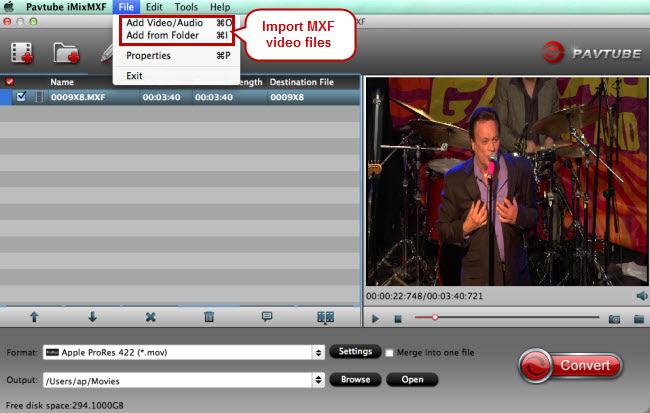 How to Convert MXF to MP4, MOV, AVI, WMV etc on Mac and Windows » AIC Converter-Import AVCHD/MTS ...