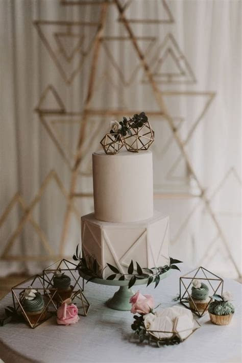 25 Modern Industrial Geometric Wedding Ideas   Page 2