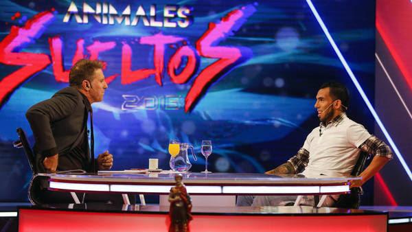 Carlitos Tevez en el Programa Animales Sueltos. (Agustin Marcarian)