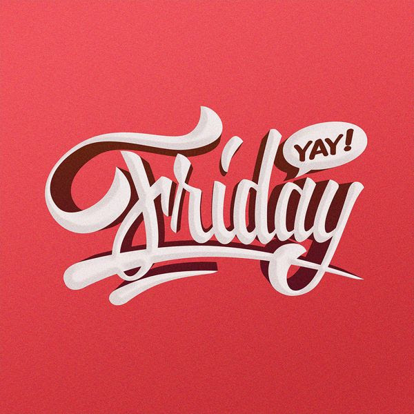 Friday hand lettering illustration by Adrian Iorga