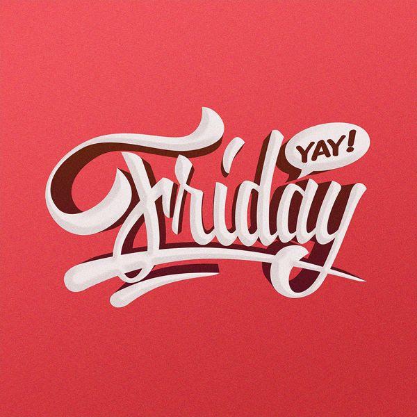 Friday hand lettering illustration by Adrian Iorga