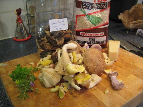 Wild Mushroom Risotto Ingredients