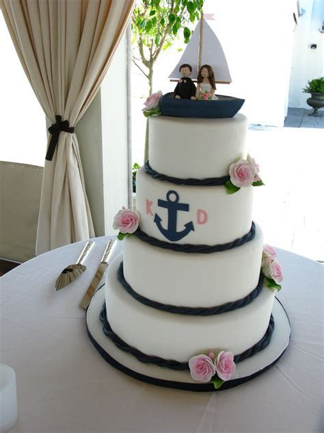 Nautical wedding cake, anchor wedding cake, cute wedding