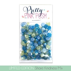 Pretty Pink Posh SHARE HANDMADE KINDNESS MIX Sequins