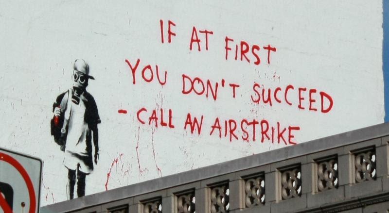 Call An Airstrike Banksy Mural