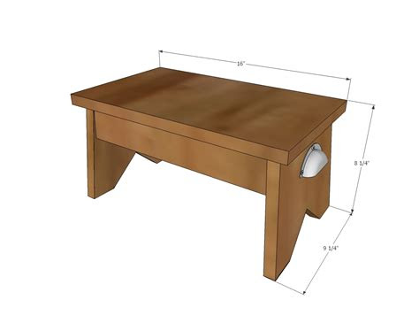 ana white simple  single step stool diy projects