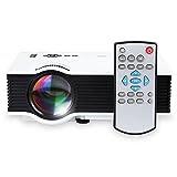 Tera® UNIC UC40 小型 ホームシアター LED プロジェクター TFT LCD プロジェクター スライド プロジェクター HDMI AV USB SD 入力対応 リモコン 付き ビジネス 劇場 ゲーム 教育 パーティー 用 800ルーメン 1080P フル HD 日本語説明書付
