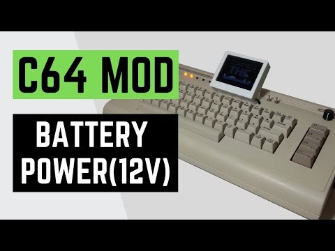 Wpqrek Things That I Made My C64 Use 12v Dc Battery