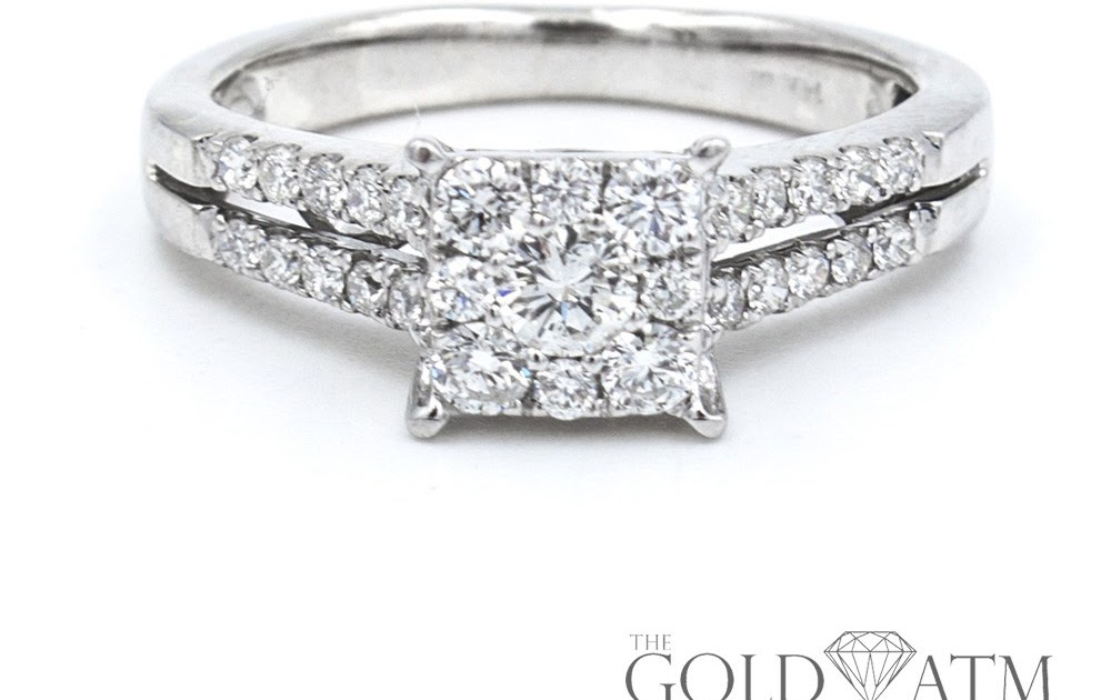 2971cb231 14K White Gold Diamond Engagement Ring from Zales The Gold ATM