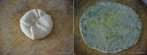step 5 Peas paratha recipe