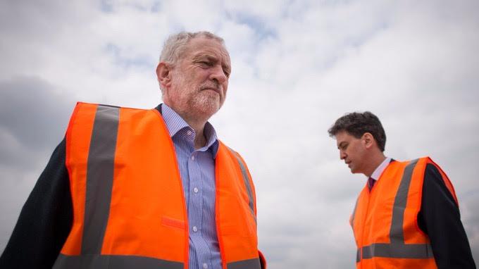 Jeremy Corbyn wears hi-vis vest