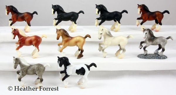 Breyer Stablemates Pony /& Draught Horse Pony Set 9176