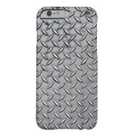 Manly Diamond Cut Metal - Cool Metallic Plate Look Barely There iPhone 6 Case