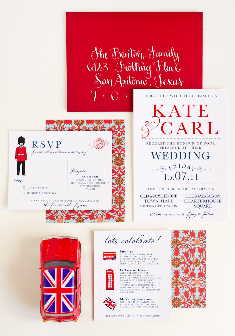London Calling Wedding Invitation Collection