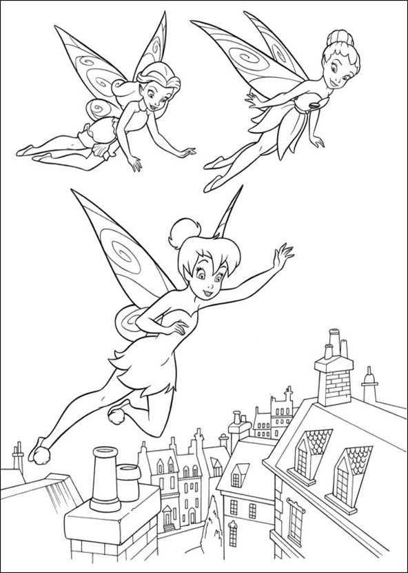Ausmalbilder kostenlos Tinkerbell 3 | Ausmalbilder Kostenlos