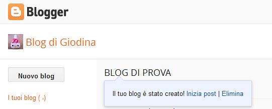 4_MESSAGGIO, Come aprire un blog in Blogger