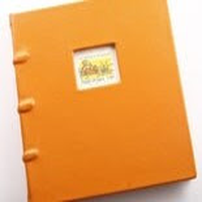 Finland Orange Leather Book