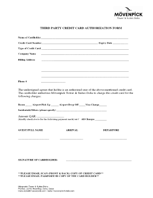floridays resort 3rd party credit card authorization pdf form Fill ...