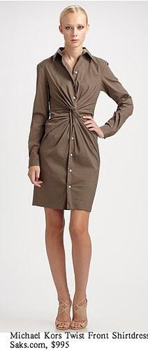 Saks.com - Michael Kors - Twist Front Shirt Dress