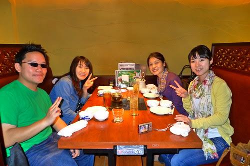 With Maiko (Yoshifuji), Ai and Iyo (1st of May, 2010)