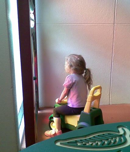 Amelia playing at hospital