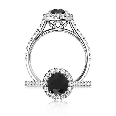 The Browns Black Diamond Halo ~ Browns Jewellers   The