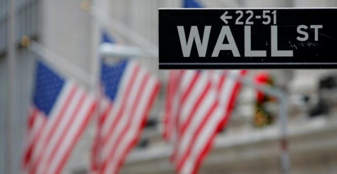 Una señal con el nombre de Wall Street en Nueva York. / REUTERS