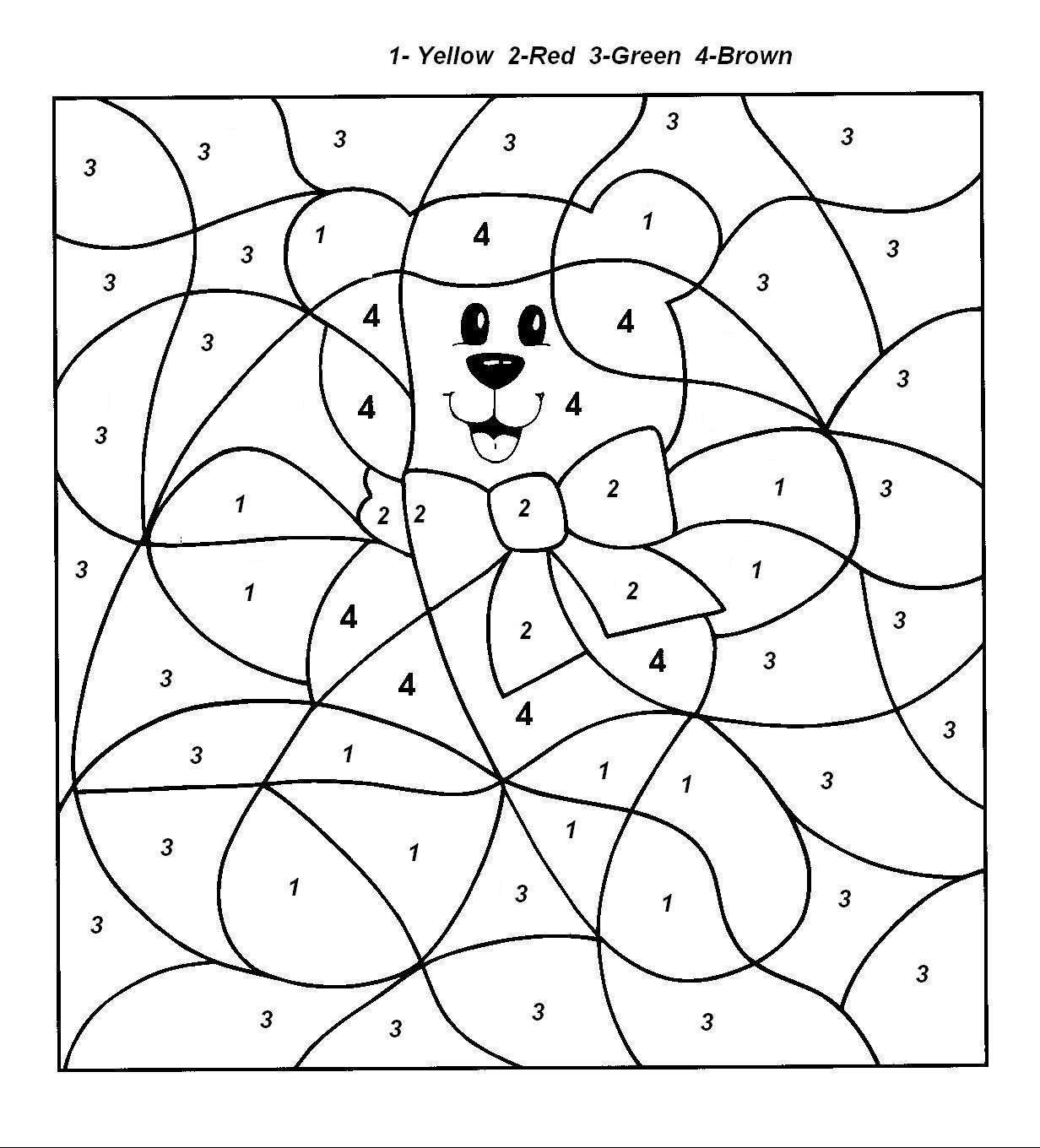 Color by number coloring pages to download and print for free