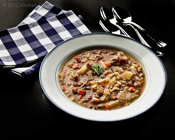 Kitchen Riffs: Black-Eyed Pea and Cabbage Soup