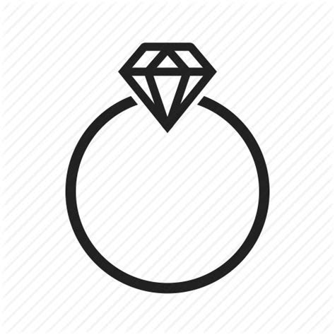 Diamond, engagement, gold, jewelry, love, ring, wedding icon