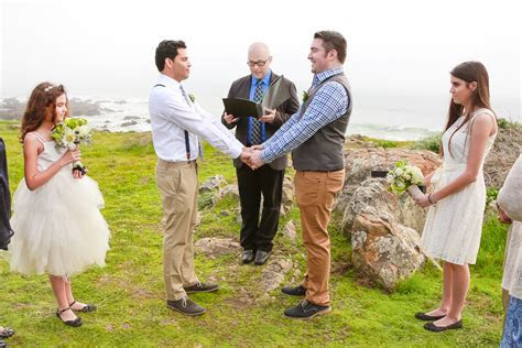 Small Clifftop Wedding Overlooking Stunning Cambria