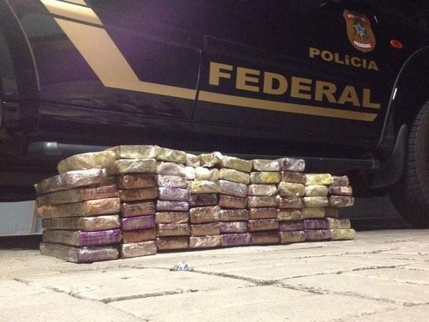 Quase 60 quilos de maconha foram apreendidos pela PF, neste domingo (14), em Belo Horizonte (Foto: Polícia Federal/Divulgação)
