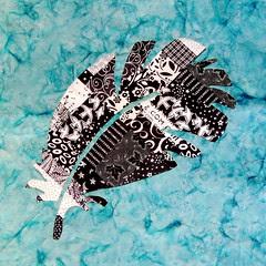 051 -Large Appliqué Feather