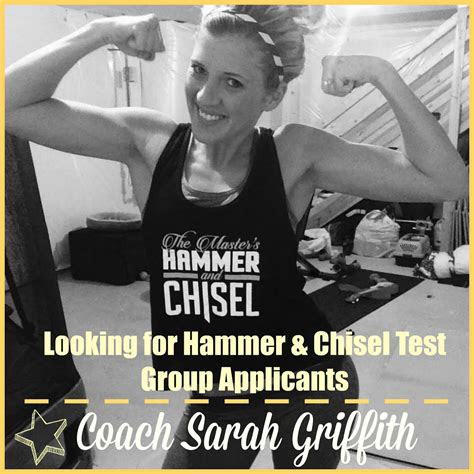 sarah griffith  masters hammer chisel coming