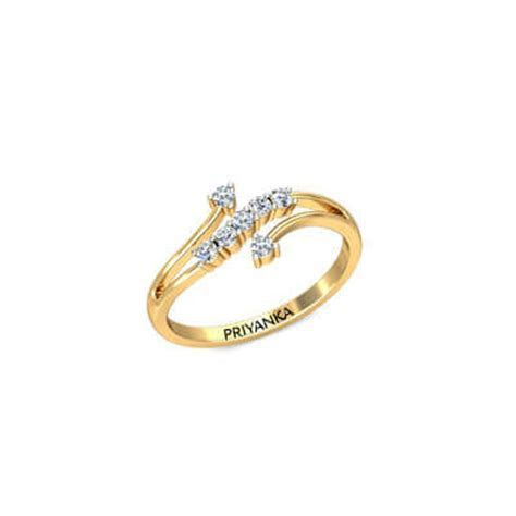 Dazzle Gold Ring With Name