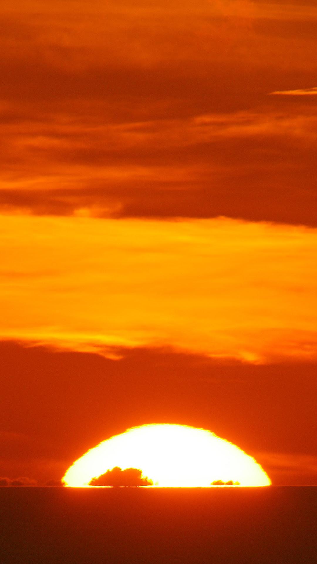 Sunset Orange iPhone Wallpaper HD