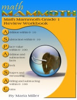 cover for Math Mammoth Grade 1 Review Workbook