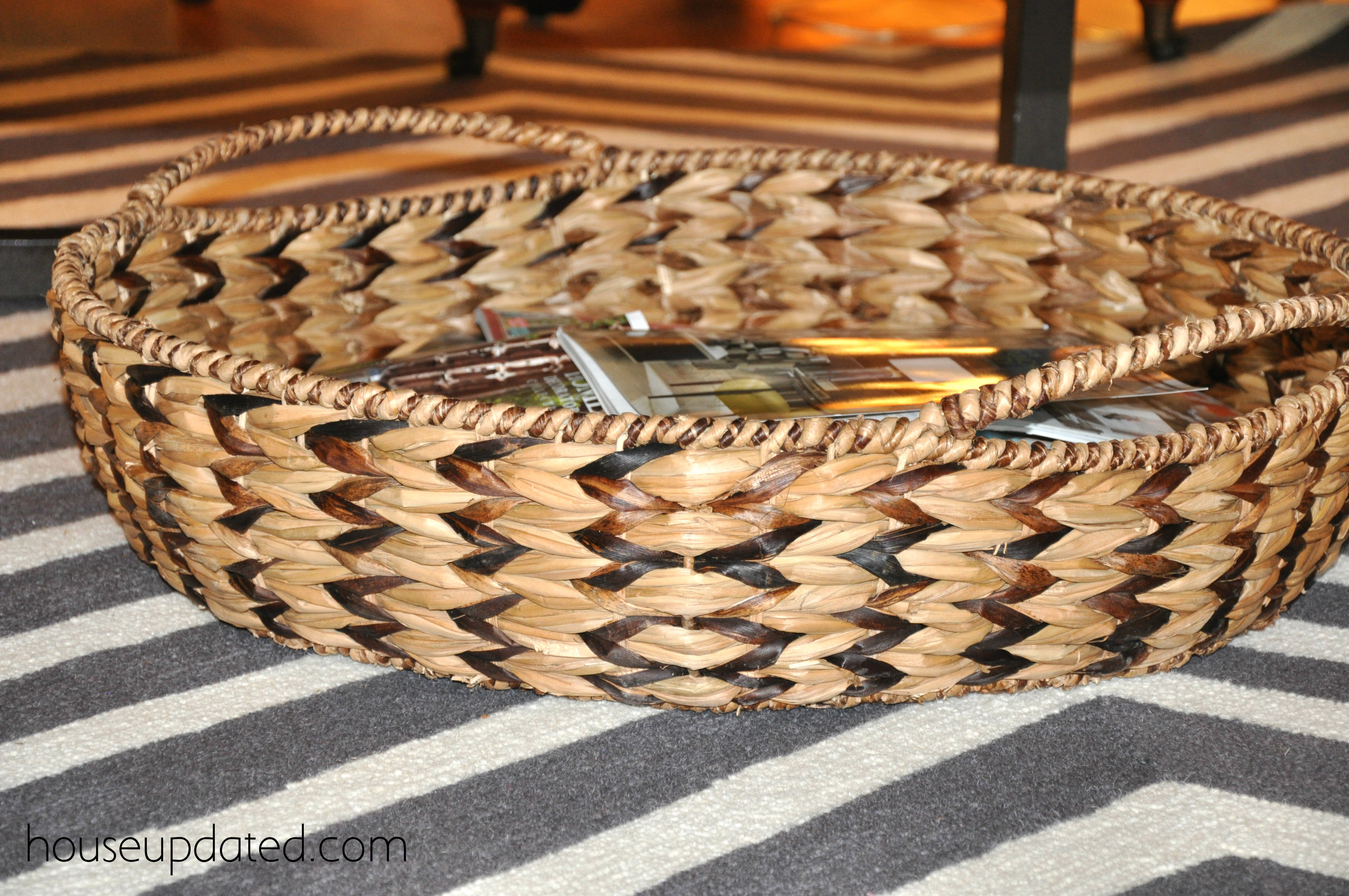 The Story of a Large Shallow Basket - House Updated