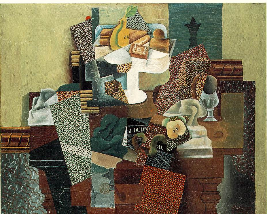 Picasso: Still-life with Fruit-dish on a Table