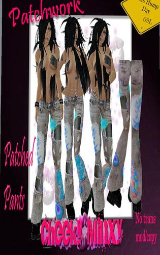 69L Cheekyminxy patchwork pants