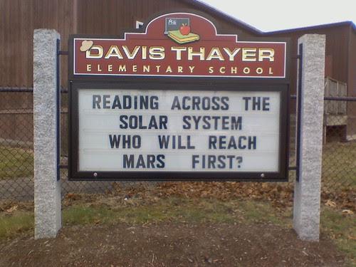 Franklin: Davis Thayer reading challenge