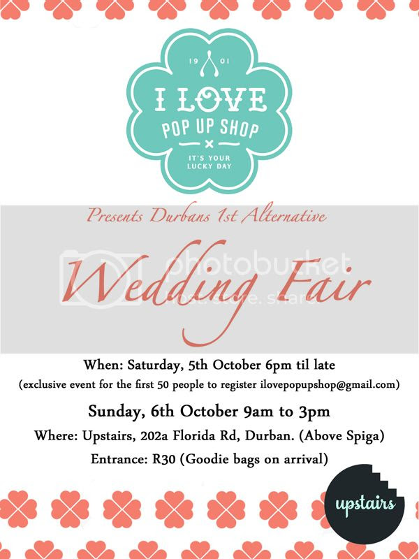 I Love Pop Up Shop Alternative Wedding Fair in Durban