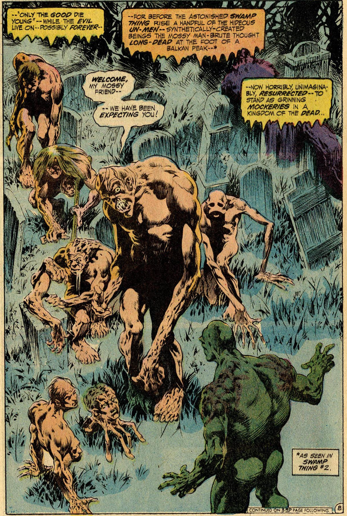 Hello, old enemy. Anton Arcane, back from the dead the first time in Swamp Thing #10, by Len Wein and Bernie Wrightson