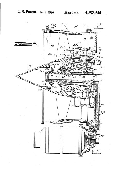 Patent US4598544 - Medium bypass turbofan engine - Google