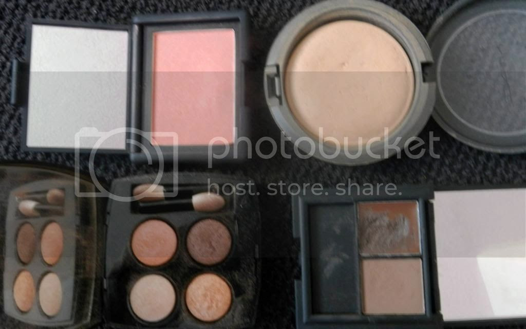NARS Torrid, MAC Mineralise SkinFinish Natural Medium Dark, Chanel Les 4 Ombres Spices, Sleek Brow Kit Dark