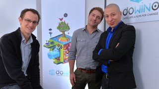 The  team behind the project, from left, Pierre-Alain Gagne, Jerome Cattenot and Nordine Ghachi