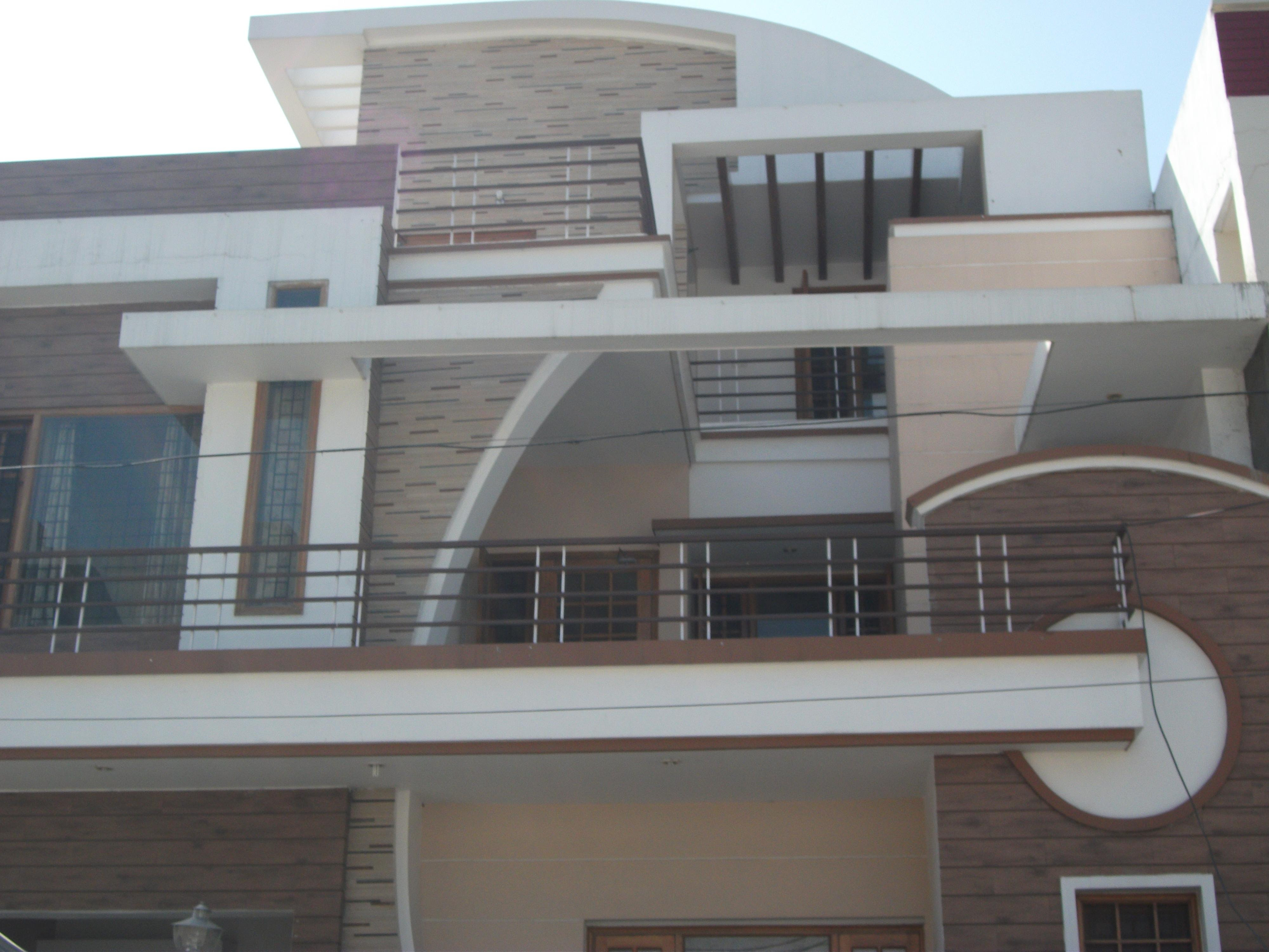 Home Elevation Design With Curve Line Concept Gharexpert