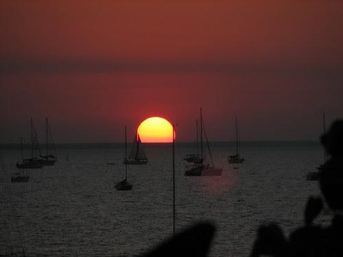 Darwin Sailing Club sunset, Fannie Bay