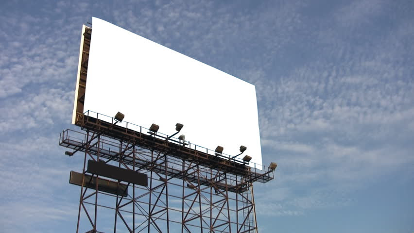 Billboard Poster Advertising. Green Screen Wall For Copy Space ...