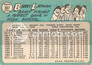 #307 Barry Latman (back)